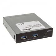 Panou Frontal Akasa AK-ICR-32, 2x USB 3.1 Gen1, 1x USB 3.1 Gen2 Type C, Black