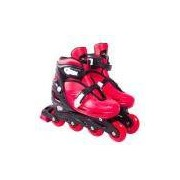 Patins Roller In-line Radical Ajustável Vermelho (m 32-35)