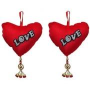 Atorakushon Pack of 2 jhumka heart teddy with Music By Pushing On heart Soft Valentine Birthday Gift