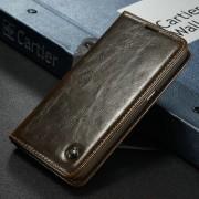 Samsung Galaxy S7 rustiek leren boekhoesje bruin