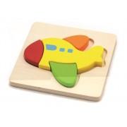 Viga drvene puzzle 4 dijela avion