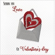 luxe valentijnskaart - sending you all my love on valentines day