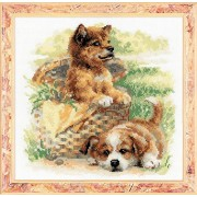 """Tender Age Counted Cross Stitch Kit-9.75""""X9.75"""" 14 Count (Pack of 1)"""