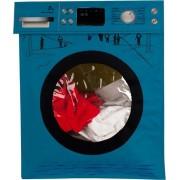 Wasmand - Wasbox - Waszak - Wassoorteerder - Opvouwbaar - Blauw - Met deksel