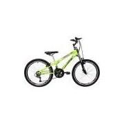 Bicicleta Track & Bikes Down Hill Dragon Fire 18V Aro 24 Amarelo Neon