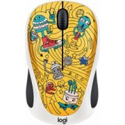 Mouse Wireless Logitech M238 Doodle Collection GO-GO GOLD USB