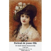 Kit goblen - Portrait de jeune fille de Emile Eisman Semenowsky