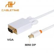 Cabletime Mini DP naar VGA Mini displayport-naar VGA Mannelijke aangesloten Macbook Pro Computer VGA Displays Lcd-monitoren N015 CABLETIMES