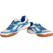 Nivia New Super-Court Badminton Shoes For Men(White, Blue)