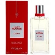 Guerlain Habit Rouge L'Eau Eau de Toilette para homens 100 ml