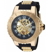 Invicta Watches Invicta Men's 'Pro Diver' Automatic Gold-Tone and Stainless Steel Casual Watch ColorBlack (Model 24742) BlackBlack