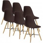 PremiumXL - [en.casa] Design stolica set od 6 komada - 81,5 x 46cm - smeđa