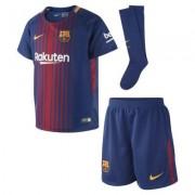 2017/18 FC Barcelona Stadium Home Fußballtrikot-Set für jüngere Kinder - Blau
