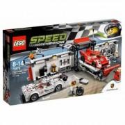 Lego Produkt z outletu: Klocki LEGO Speed CHampions Porsche 919 Hybrid i 917K Pit Stop 75876