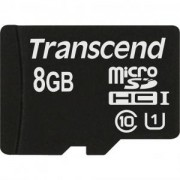 Transcend 8GB microSDHC UHS-I (with adapter, Class 10) - TS8GUSDHC10U1