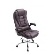CLP Silla de oficina Thor, tapizado cuero sintético, marrón marrón, altura del asiento