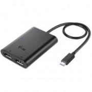 I-tec C31DUAL4KDP 3840 x 2160Pixels Zwart USB grafische adapter