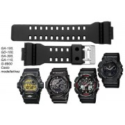 GA-100 GD-100 GA-300 GA-110 G-8900 Casio fekete műanyag szíj