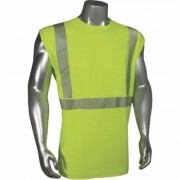Radians RadWear USA Men's Class 2 High Visibility Breezelight Mesh Sleeveless Safety T-Shirt - Lime (Green), Medium, Model LHV-XTSARN