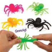 Set 12 Paianjeni Extensibili Stretchy Spiders