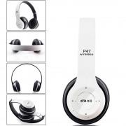 Casti wireless MRG L-P47 Alb cu Bluetooth , Handsfre