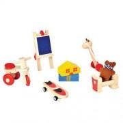 Plan Toys Drewniane mebelki dla lalek - akcesoria do domku dla lalek - Zabawki dla lalek, PLTO-9711