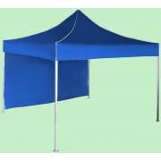 Gyorsan összecsukható sátor 3x3 m - alumínium, Kék, 1 oldalfal