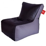 Sicillian Bean Bags Bean Chair - Size Xl - Without Fillers - Cover Only (Black & Grey)