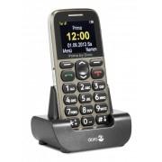 Doro Großtastenhandy Primo 215 beige, mit Tischladestation, Bluetooth, FM-Radio, Notruftaste
