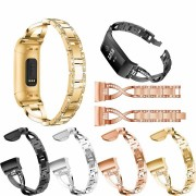 Bakeey Stainless Steel Watch Band Strap Replacement For Fitbit Charge 3