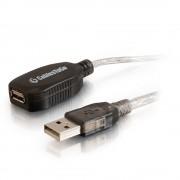 C2G 5m USB A M/FM Cable 5m USB A USB A Male Female Transparent USB cable