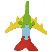 Skillofun Wooden Take Apart Puzzle Large - Airplane, Multi Color