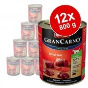 Animonda GranCarno Original Adult 12 x 800 g - Manzo puro