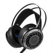 Combatwing M160 3.5mm Wired Headphone Stereo Gaming Bass Headset Easy with LED Light for PC Laptops Computers PS4 iPhone iPad iPod Samsung HTC Sony Huawei Xiaomi and Other Audio Devices(Black)