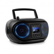 Auna Roadie Smart, boombox, интернет радио, DAB / DAB +, FM, CD плейър, LED, WiFi, bluetooth (KBB-257-RoadieIR BK)
