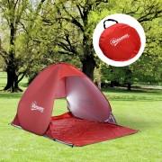 Outsunny Wurfzelt Pop Up Zelt Strandmuschel Campingzelt rot