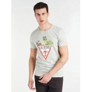 Guess T-Shirt Logo Voorkant - licht grijs - Size: Extra Large