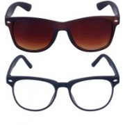 Roadway Rectangular Sunglasses(Brown)