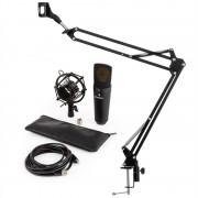 Auna MIC-920B V3, микрофонен комплект, USB кондензаторен микрофон, стойка, черен, (60001978-V3)