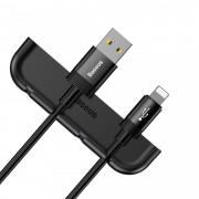 Organizator pentru cabluri telefon + aplicator folie telefon pentru iPhone XS Max , Baseus Cable Fixing Magic Tool , negru