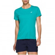 ASICS Silver Shirt Women - Female - Blauw - Grootte: Medium