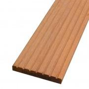 Smaragd Vlonderplank pakket 10 m2 Hardhout Keruing 2,1 x 14,5 cm (245 cm) groef