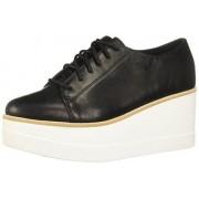 Steve Madden Women's Kimber Leather Black Ankle-High Fashion Sneaker 11M