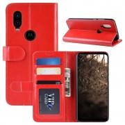 Capa Tipo Carteira para Motorola One Vision com Suporte - Vermelho