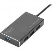Digitus DA-70240-1 4 ulaza USB 3.0 Hub Metalno kućište Crna