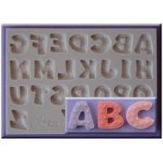 Mulaj Silicon Alfabet cu Stelute, h 2.1 cm