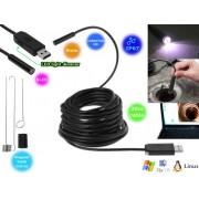 NTR ECAM24 Vízálló endoszkóp kamera 1280x720 HD 2MP 9mm átmérő 6LED USB dugó 20m kábel