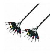 Adam Hall Cables K3 L8 PP 0300 - Multicore Cable 8 x 6.3 mm Jack mono to 8 x 6.3 mm Jack mono 3 m