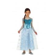 Guirca Disfraz de princesa de las nieves para niña - Talla 3 a 4 años