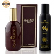 Royal Mirage Eau De Cologne Original 120ml + Royal Mirage Body Spray Night 200ml